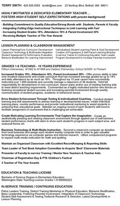 Sample Teacher Resumes | Teacher Resume Writing Services, Teacher Resume  Samples And $7.95 .