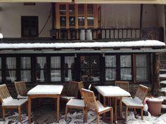 Enero... que bien se está dentro del hotel y del restaurante con la chimenea encendida!