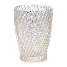Silver Swirl Mercury Glass Toothbrush Holder