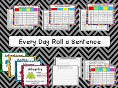 Roll a Sentence - Every Day Edition $ Morning work idea
