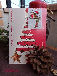Tarjeta Navidad gorrión