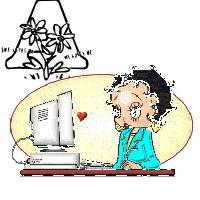 Alfabeto animado de Betty Boop ejecutiva.