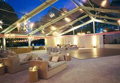 outdoor lounge area // Photography: Liz Banfield Photography // Event Planner: Tara Guérard // TheKnot.com