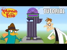 "Minecraft Tutorial: How To Make ""Phineas and Ferb's"" House! ""Phineas and Ferb"" (Survival House) - YouTube"