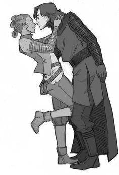 """lilithsaur: """"No sé ustedes, pero a mí me encanta la idea que que Kylo se aculille cuando quiera besar a Rey ❤ """""""