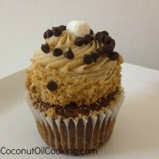 Chocolate Graham Cracker Cupcakes with Cooking Dough Frosting
