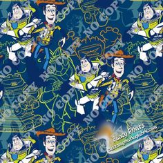 FCM14 Toy story digital print fabric, fancy print fabric, digital fabric