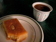 Turkish coffee and sweets at Oasis Restaurant Oasis Restaurant, Greek Desserts, Honey Syrup, Christmas Wine, Turkish Coffee, French Toast, Sweet Tooth, Dessert Recipes, Food And Drink