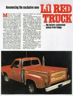 1978 Dodge Lil' Red Express Truck Ad-