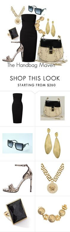 """""""'Micaela By Python'"""" by thehandbagmaven ❤ liked on Polyvore featuring Victoria Beckham, Marco Bicego, Yves Saint Laurent, Versace and Ippolita"""