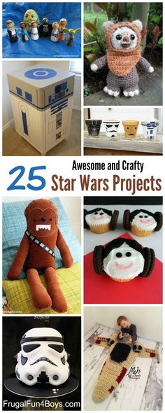 25 Awesome Star Wars Crafts That Fans Will LOVE - Star Wars toys to make, crocheting projects, furniture and decor, party ideas and more!