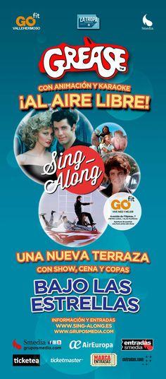Campaña de publicidad en quioscos de Sing Along, nuevo concepto del cine donde podrás bailar y cantar los temas favoritos de tus películas.