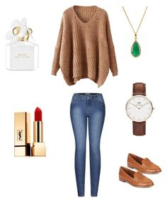 Casual Fall 17 by enciel11 on Polyvore featuring Mode, 2LUV, Ralph Lauren, Daniel Wellington, Yves Saint Laurent and Marc Jacobs