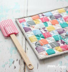 Pot Holder from 1 12 inch squares