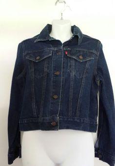 Levis Denim Cropped Trucker Jacket sz L Blue   Clothing, Shoes & Accessories, Women's Clothing, Coats & Jackets   eBay!