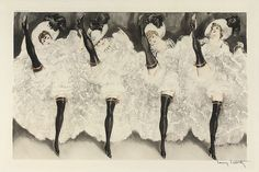 """Louis Icart, 'CAN-CAN"""""""