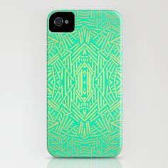 Radiate (Gold Teal) iPhone Case