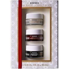 KORRES Sleeping Beauties Overnight Treatment Trio 1 set (£33) ❤ liked on Polyvore featuring beauty products, skincare, face care, korres skin care, anti wrinkle skin care, korres, korres perfume and korres skincare
