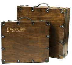 Antique Wood Suitcase Box, so on trend for packaging and decorative storage ideas.