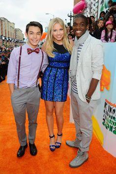 Gracie, Ryan, and Carlos of Supah Ninjas at the KCA's 2012