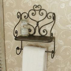 Here at Melody Maison, we stock a fantastic range of elegant shabby chic and french style items, ranging from furniture ranges to home accessories. Bathroom Storage, Small Bathroom, Stainless Steel Work Table, Iron Furniture, Metal Projects, Towel Holder, Creative Decor, Beautiful Bathrooms, Storage Shelves
