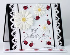 Ladybugs, Hearts and Daisies by Rox71 - Cards and Paper Crafts at Splitcoaststampers - this is a great card to CASE for Challenge 4 at CropChocolate which ends 5/10/2013; see https://www.cropchocolate.com/contests?page=5