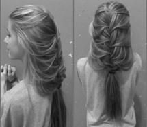 Inspiring picture black and white, braid, french, french braid, girl. Resolution: 960x887 px. Find the picture to your taste!