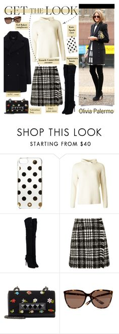 """""""Get The Look: Olivia Palermo"""" by lgb321 ❤ liked on Polyvore featuring Kate Spade, French Connection, Aquazzura, Dolce&Gabbana, Valentino, Ted Baker and A.P.C."""