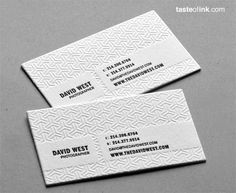 Letterpress simple - Business Card - Looks awesome!