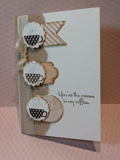 Stamps: SU Hearts a Flutter and Patterned Occasions Card: SU Whisper white Ink: Crumb Cake; Early Espresso Tools: Big shot; Hearts a Flutter framelits; scallop punch; Very Vanilla seam binding; Crumb cake scalloped tulle; embossing