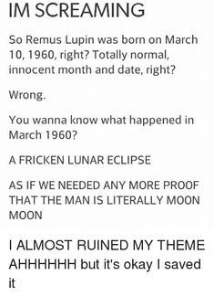 Image result for remus lupin moon moon