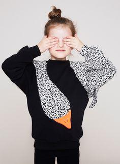 Bangbang Copenhagen Girls Swan Sweatshirt - PRE-ORDER