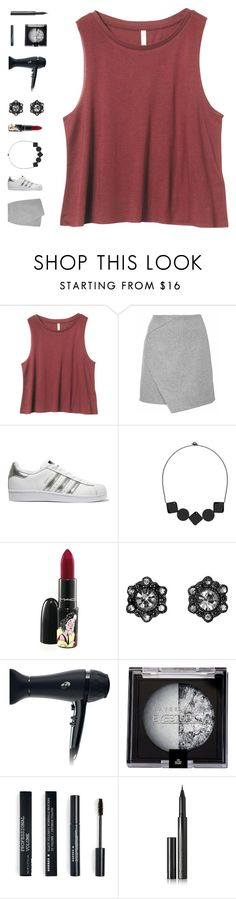 """""""little things"""" by ouchm4rvel ❤ liked on Polyvore featuring adidas Originals, SCENERY, MAC Cosmetics, T3, Maybelline, Korres and Surratt"""