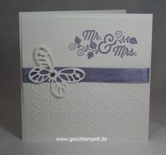 Stampin up Hochzeit For the new two Schmetterling