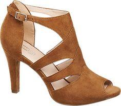 2577a84285ee 5th Avenue Ladies  Tan Peep-Toe Heels