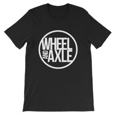big logo wheel and axle brand clothing line t-shirt for wheelchair athletes and creatives