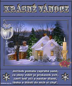 Veselé Vánoce obrázky, citáty a animace pro Facebook - ObrazkyAnimace.cz Christmas Wishes, Christmas And New Year, Christmas Time, Ikebana, Advent, Diy And Crafts, Merry Christmas, Christmas Decorations, Santa