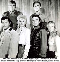 The First Season Cast Of The Big Valley Lee Majors