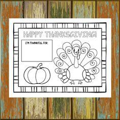 Printable Thanksgiving Placemat 8.5x11 by VividBlissPrintables