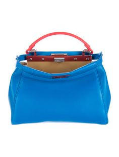 fendi mini bi color peekaboo satchel bold springtrend