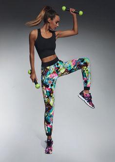 861a1ca570c Détails sur Leggings pantalon de sport femme multicolore BAS BLACK GLADE 36  38 40 42