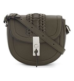 ALTUZARRA Ghianda Mini Cactus Calfskin Saddle Bag. #altuzarra #bags #shoulder bags #leather #