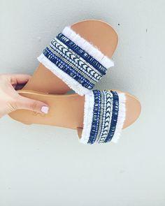 Boho Sandals-Slide Sandals -Boheme Sandals- Hippie Sandals-Greek Handmade Leather Sandals- New Greek Designed Sandals-Genuine Sandals -