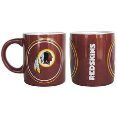 Washington Redskins NFL Coffee Mug - 14oz Sculpted Warm Up (Single Mug)