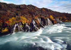 Hraunfossar, Iceland https://twitter.com/ogugeo/status/486273760979189760