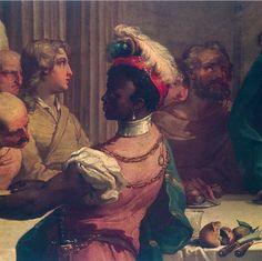 Gandolfi Gaetano The Wedding Feast at Cana (detail) Italy Oil on Canvas, 530 x 679 cm. Bologna, Pinacoteca Na African History, African Art, European History, Art History, Black Historical Figures, Black Royalty, Black History Facts, Afro Art, Classical Art