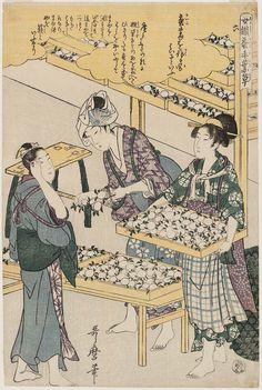 Utamaro_No. 6 from the series Women Engaged in the Sericulture Industry (Joshoku kaiko tewaza-gusa)