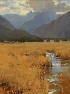 Such well-painted marsh grasses  ::  Salon International - Mountain Hues - by Cindy Baron