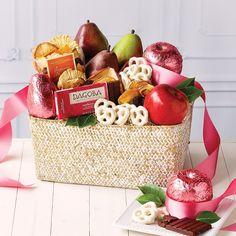 Organic Pink Fruit Basket – The Fruit Company Yogurt Covered Pretzels, Organic Yogurt, Organic Fruit, Corporate Gift Baskets, Fruit Company, Pink Fruit, Fruit Packaging, Fruit Gifts, Gift Ribbon