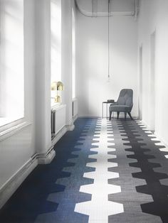 Artisan is produced using a new proprietary-developed fibre with a look that varies to create a living floor with a pronounced textile character. Tile Design, Innovation Design, Design Your Own, Tile Floor, Tiles, Recycling, Artisan, Studio, Cool Stuff